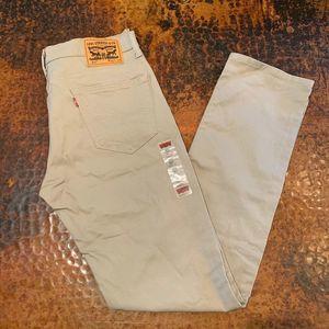 New WOT Levi 511 Men's Khaki Slim Fit Jeans